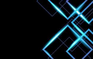 fundo de néon azul geométrico vetor