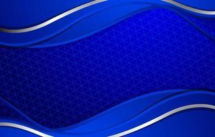 pano de fundo elegante onda azul vetor