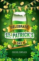st. pôster de cerveja verde do dia de patrick vetor