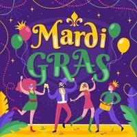 celebração do festival de mardi gras