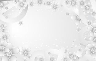 conceito de fundo de flores brancas vetor