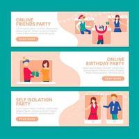 um guia para festas durante o novo normal vetor