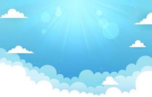 fundo de céu azul claro vetor