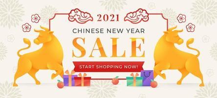 Celebração da venda do ano novo chinês de 2021 vetor