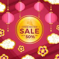 kit de promoção e marketing de venda de ano novo chinês vetor