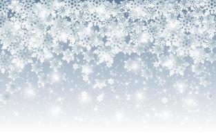 fundo abstrato de flocos de neve de inverno vetor