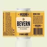 modelo de embalagem de cerveja amarela vetor