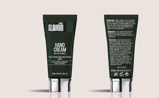 maquete de tubos de cosméticos de creme para as mãos de luxo vetor