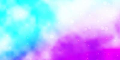 rosa claro, padrão de vetor azul com estrelas abstratas.