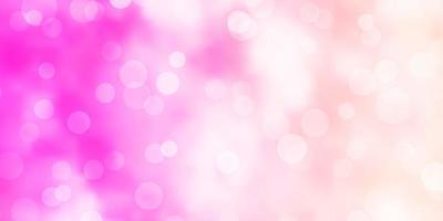 padrão de vetor rosa claro com esferas.