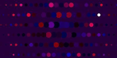 layout de vetor roxo escuro, rosa com formas de círculo.