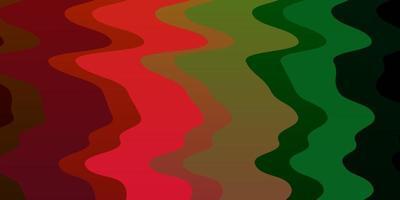 textura de vetor multicolorido escuro com arco circular.
