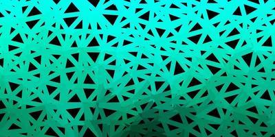 desenho poligonal geométrico do vetor verde escuro.