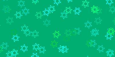 modelo de vetor verde claro com sinais de gripe