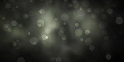 textura de vetor cinza escuro com círculos.