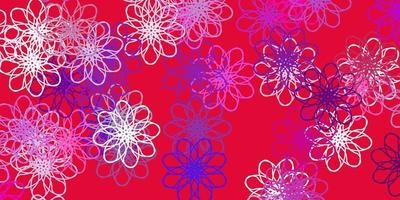 luz multicolor vetor arte natural com flores.