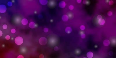 luz de fundo vector multicolor com círculos, estrelas.
