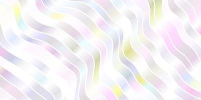 luz de fundo vector multicolor com linhas tortas.