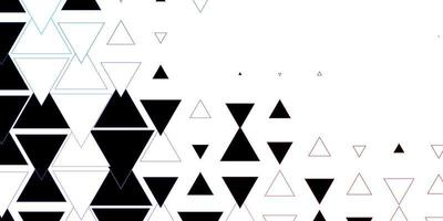 pano de fundo vector azul e vermelho escuro com linhas, triângulos.