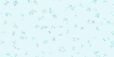 layout abstrato azul claro do vetor com folhas.