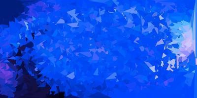 papel de parede azul claro do mosaico do triângulo do vetor.