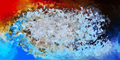 papel de parede polígono gradiente de vetor azul claro e amarelo.
