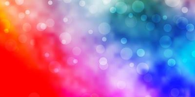 textura leve vetor multicolor com círculos.