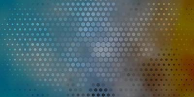 modelo de vetor azul escuro e amarelo com círculos.