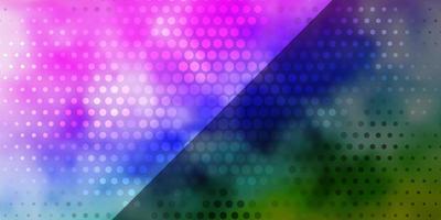 layout de vetor multicolor de luz com círculos.