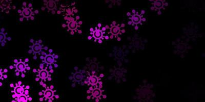 modelo de vetor rosa escuro com sinais de gripe