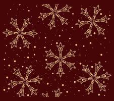 padrão sem emenda com flocos de neve sobre o tema inverno.