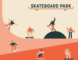 pôster parque de skate vetor