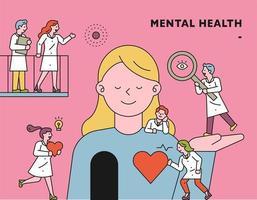 ilustração do conceito de saúde mental vetor