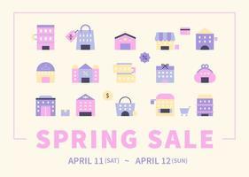 cartaz de venda de primavera. vetor