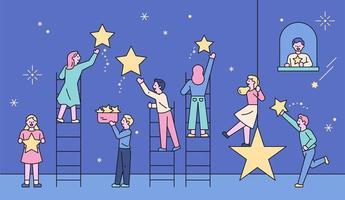 aqueles que pegam as estrelas no céu.