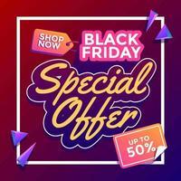 oferta especial sexta-feira negra vetor
