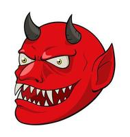 a cabeça do diabo vetor