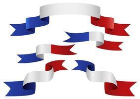 conjunto de fita da bandeira da frança vetor