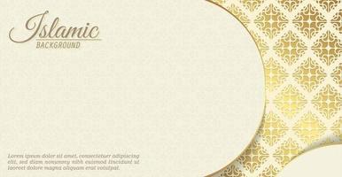 elegante fundo islâmico com motivos estampados vetor