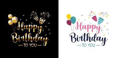 vetor adesivos de feliz aniversário