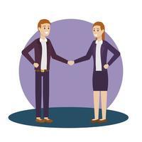 design de avatar de empresário e empresária vetor
