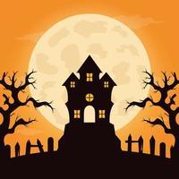 design plano fundo de halloween vetor
