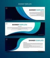 conjunto de banners para design moderno de negócios vetor