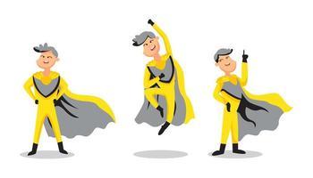 personagem de ilustração de super-herói vetor