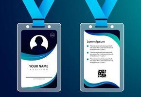 cartão de identificação para design moderno de negócios vetor