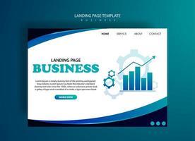 modelo de página de destino para negócios vetor
