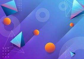 fundo abstrato design moderno com formas gradientes vetor
