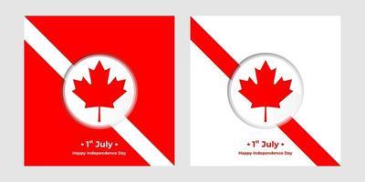 1º de julho, dia da independência do Canadá Square Banners vetor