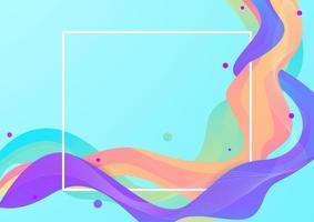 fundo de fluxo colorido abstrato vetor