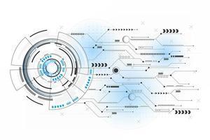 vetor e ilustração de linha de conexão de circuito futurista abstrato